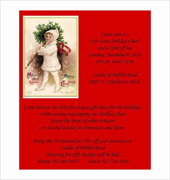 Christmas Invitations Templates Free Microsoft New 50 Microsoft Invitation Templates Free Samples