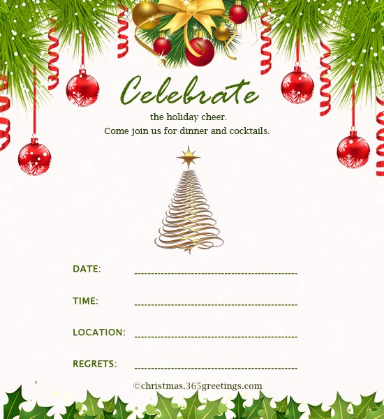 Christmas Invitations Templates Free Microsoft New Christmas Invitation Template and Wording Ideas