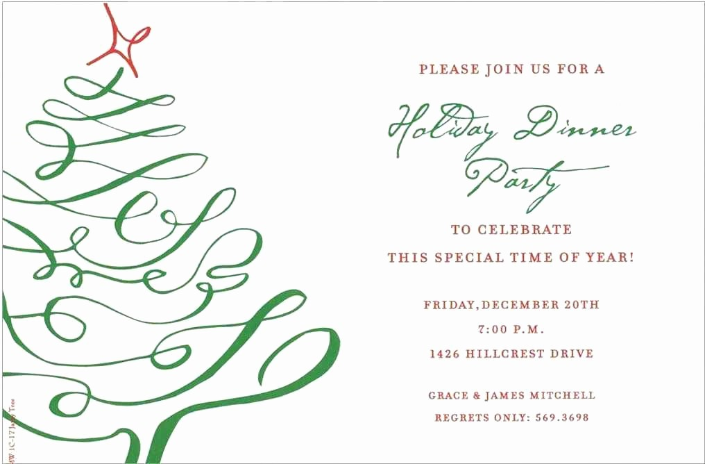 Christmas Invitations Templates Free Microsoft Unique Corporate Holiday Cards Ideal Dinner Invitation Template