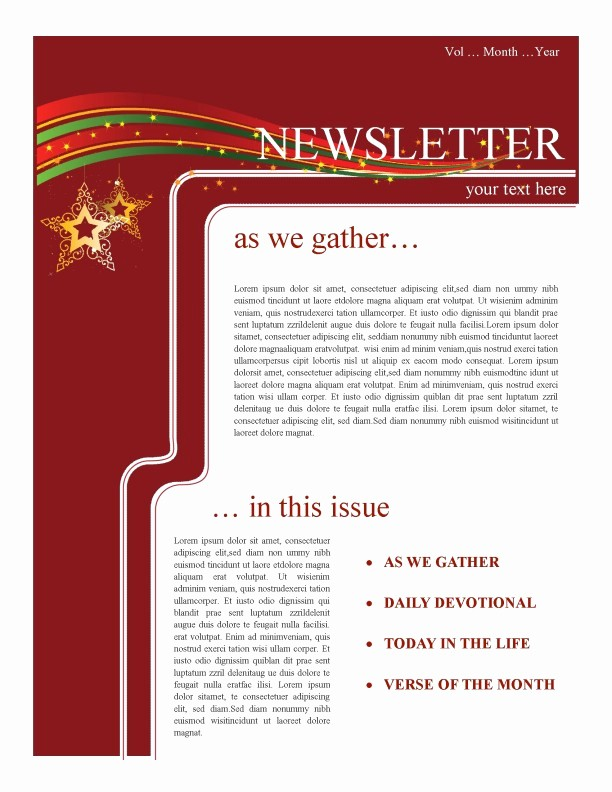 Christmas Letter Template with Photos Beautiful Holiday Newsletter