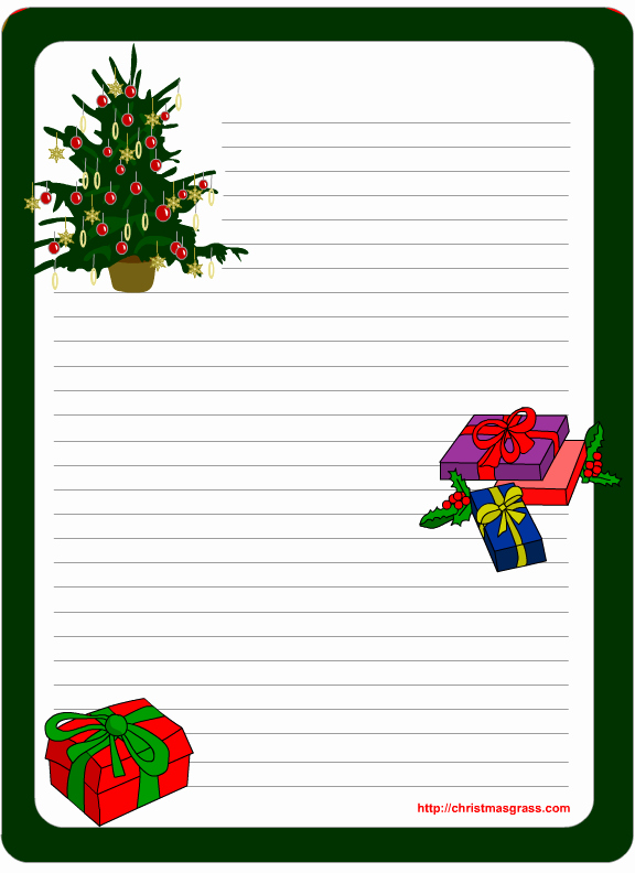 Christmas Letter Template with Photos Best Of 11 Best S Of Free Printable Christmas Stationery