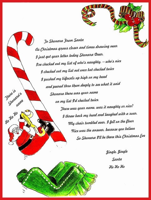 Christmas Letter Template with Photos Best Of Santa Letter Christmas Pinterest