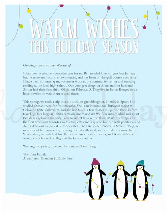 sample holiday letter