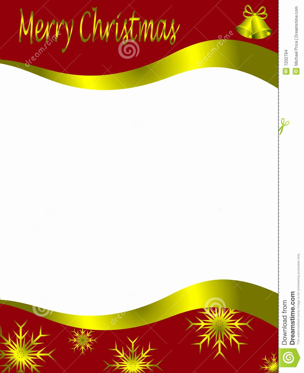 Christmas Letter Template with Photos Fresh Christmas Letter Template Stock Vector Illustration Of
