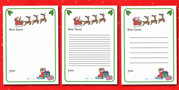 Christmas Letter Template with Photos Inspirational Christmas Letter to Santa Writing Template Download