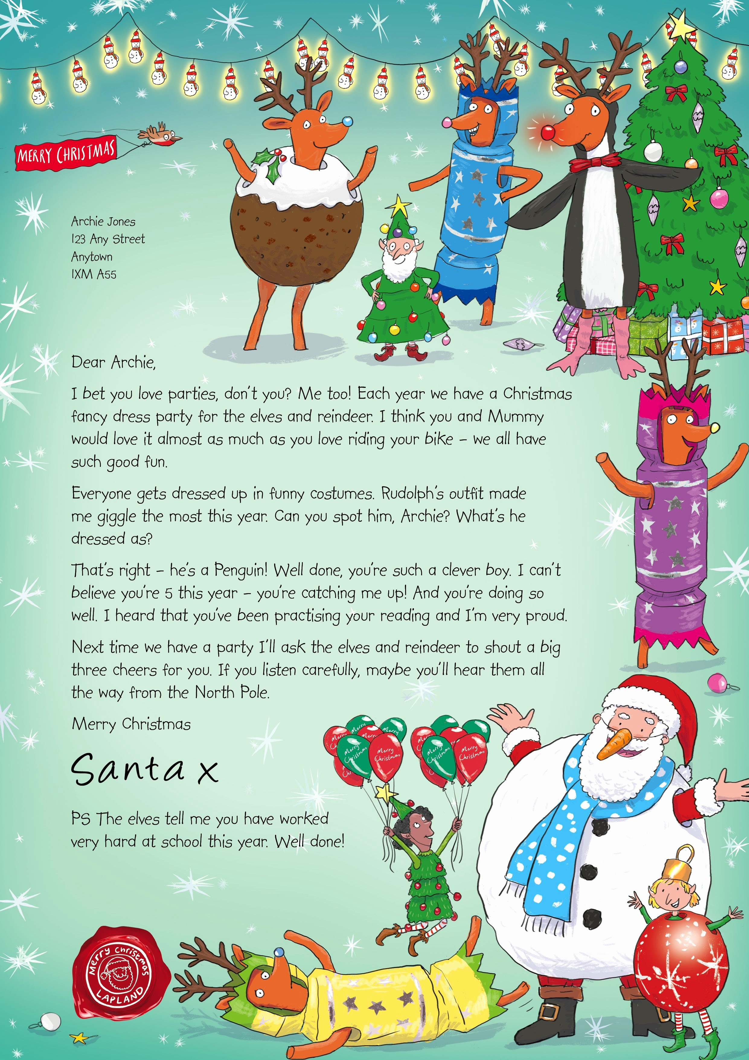 Christmas Letter Template with Photos Inspirational Nspcc Letters From Santa Mum E