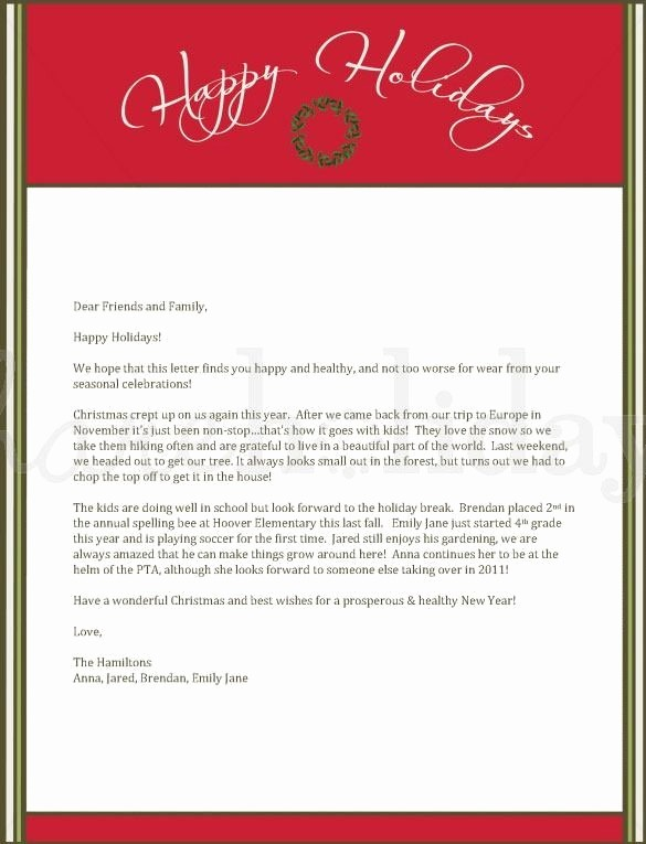 Christmas Letter Template with Photos Lovely 4 Christmas Letters – Find Word Letters