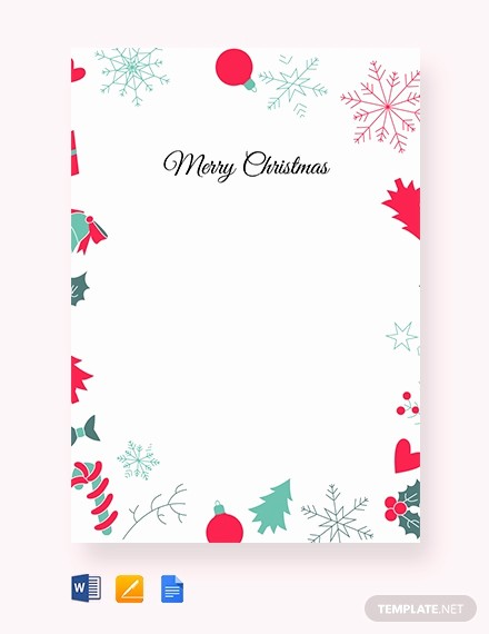 Christmas Letter Template with Photos Luxury Free Christmas Border Letter Template Download 1232