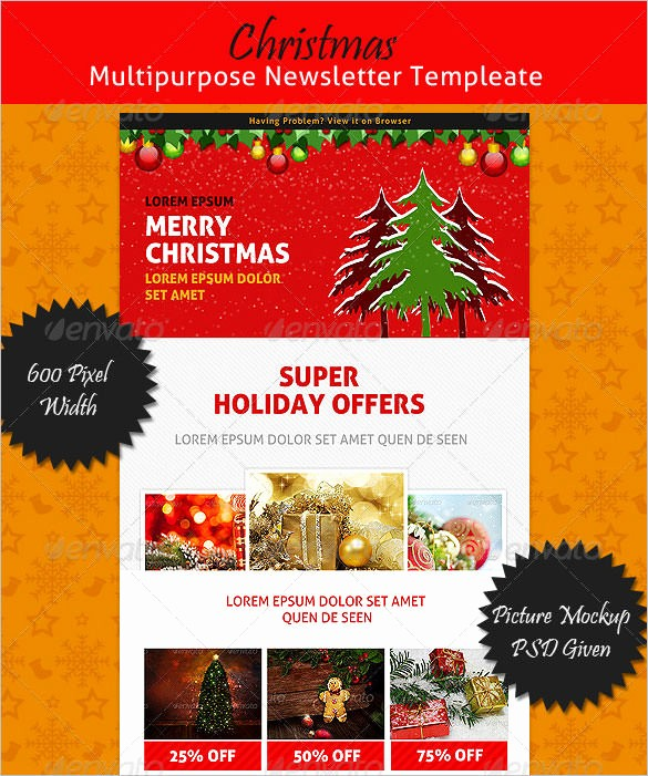 Christmas Letter Template with Photos New 27 Christmas Newsletter Templates Free Psd Eps Ai