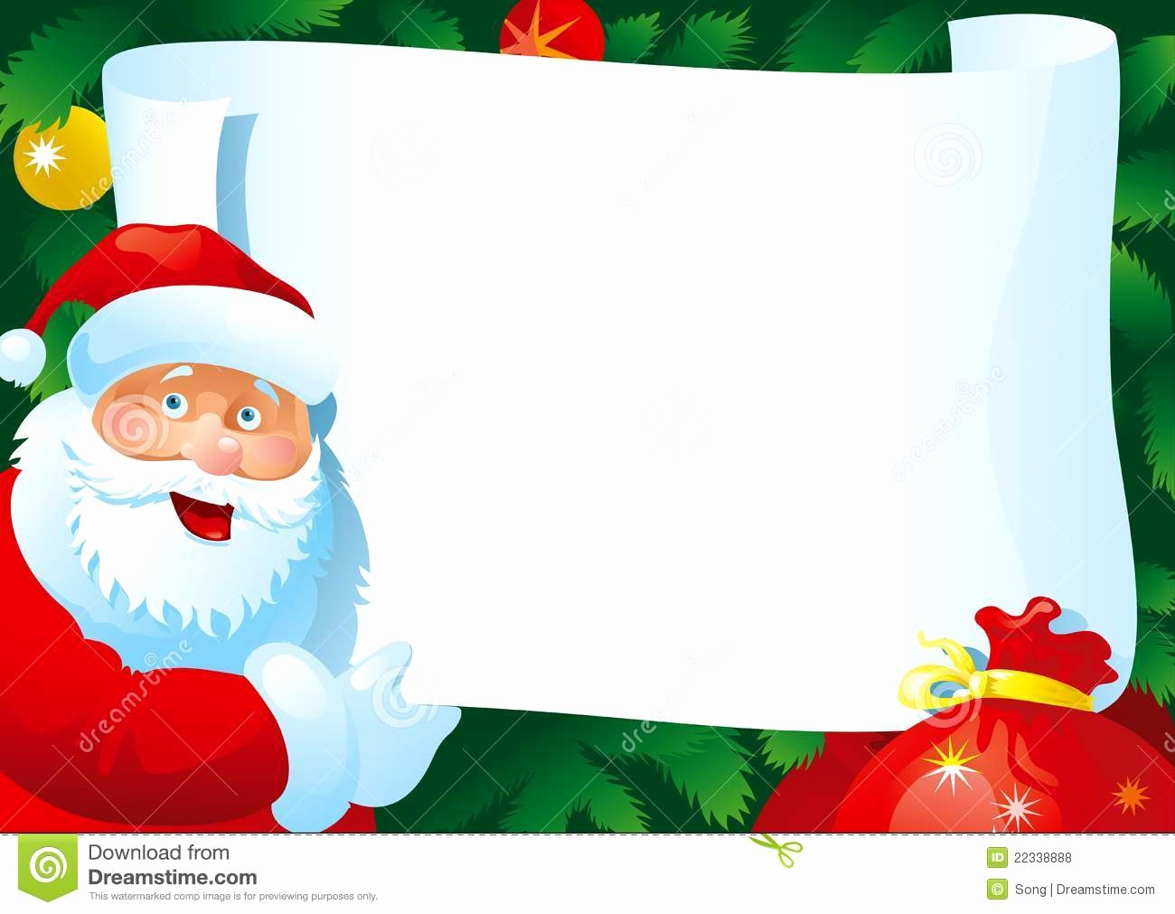 Christmas Letter Template with Photos New Christmas Letter Stock Vector Illustration Of