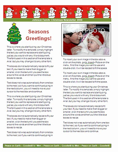 Christmas Letter Template with Photos Unique Ms Word Christmas Letter Templates Christmas Letter Paper