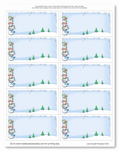 Christmas Mailing Labels Template Free Awesome Avery 5163 Label Template Templates Station