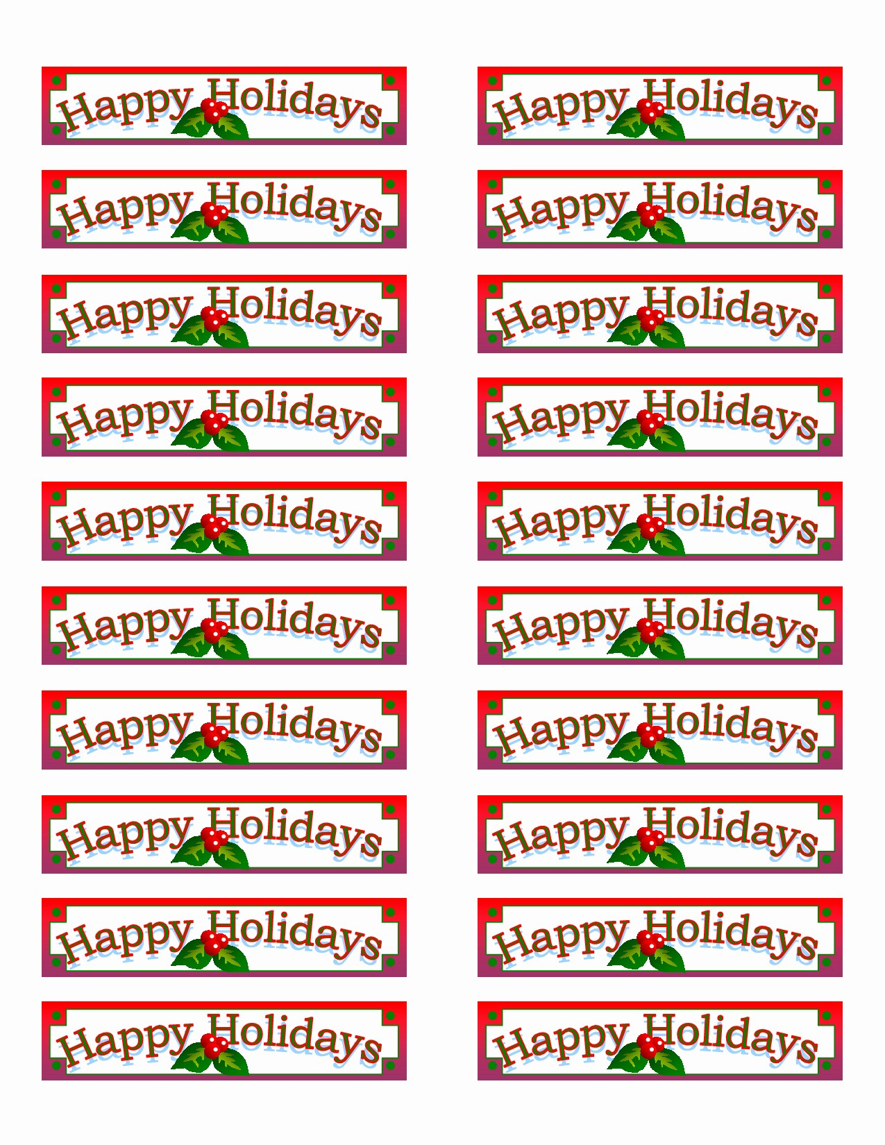 Christmas Mailing Labels Template Free Elegant Christmas Address Label Template Avery 5160 Templates
