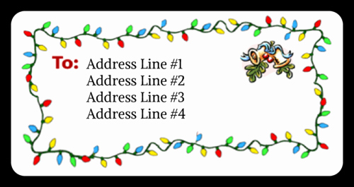 Christmas Mailing Labels Template Free Inspirational Christmas Mistletoe Label Templates Ol125