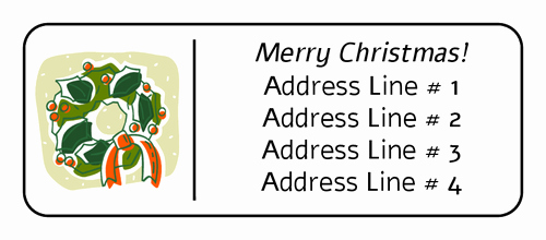 Christmas Mailing Labels Template Free Inspirational Free Return Address Label Templates Christmas top Label
