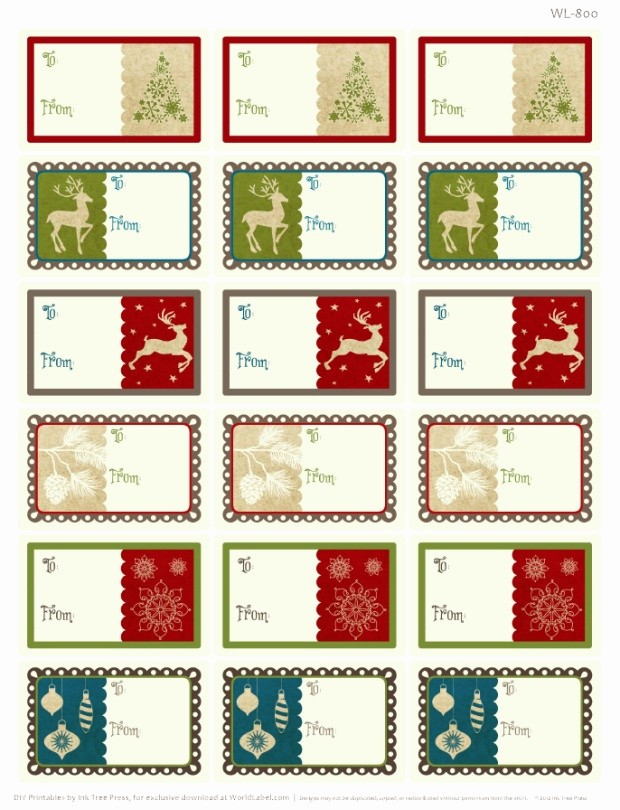 Christmas Mailing Labels Template Free Lovely A Rustic Christmas Printable Label Set