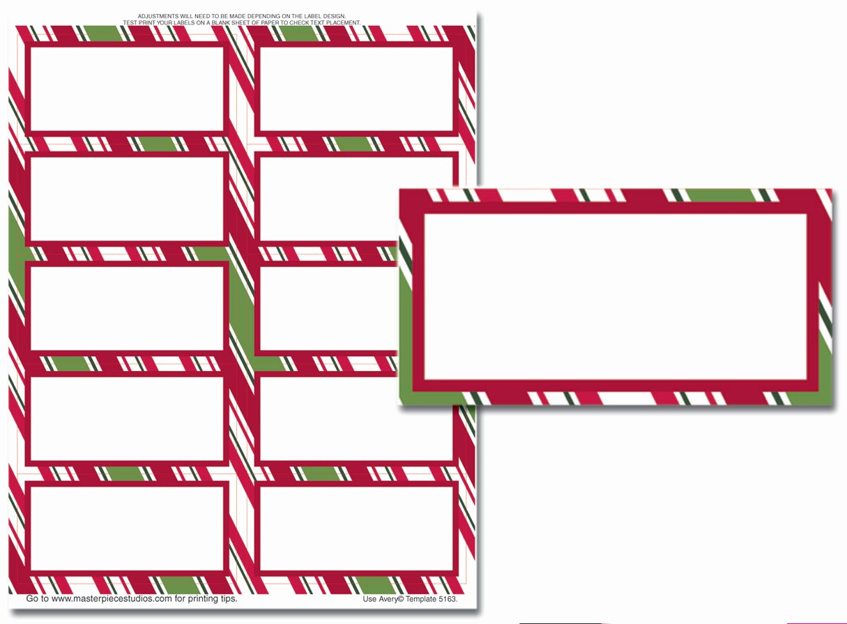 Christmas Mailing Labels Template Free Lovely Christmas Address Labels Templates – Happy Holidays