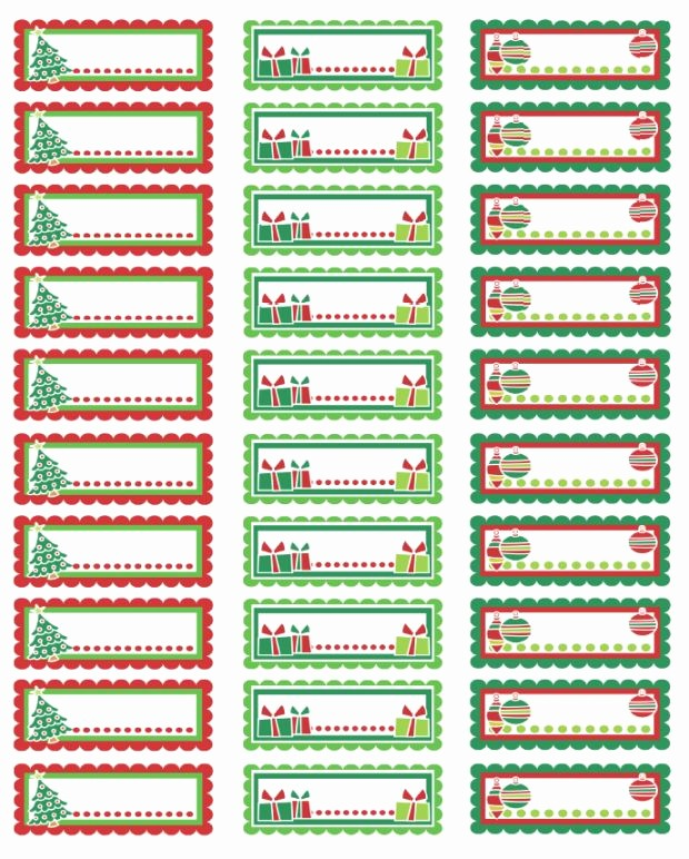 Christmas Mailing Labels Template Free New Christmas Address Labels Colorful Christmas Labels In A