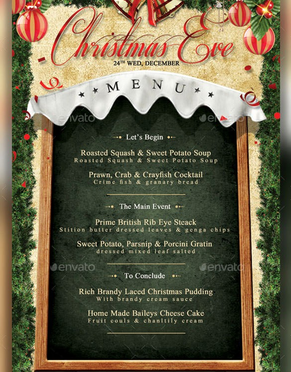 Christmas Menu Templates Free Download Awesome Christmas Menu Template – 30 Free Psd Eps Ai