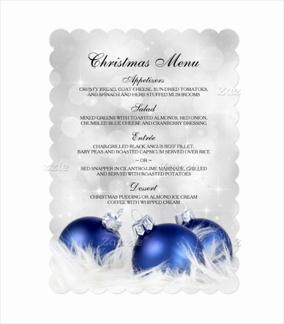 Christmas Menu Templates Free Download Awesome Free Editable Christmas Menu Templates – Merry Christmas