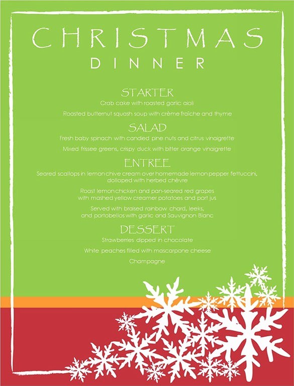 Christmas Menu Templates Free Download Best Of Christmas Menu Template 16 Free Psd Eps Ai