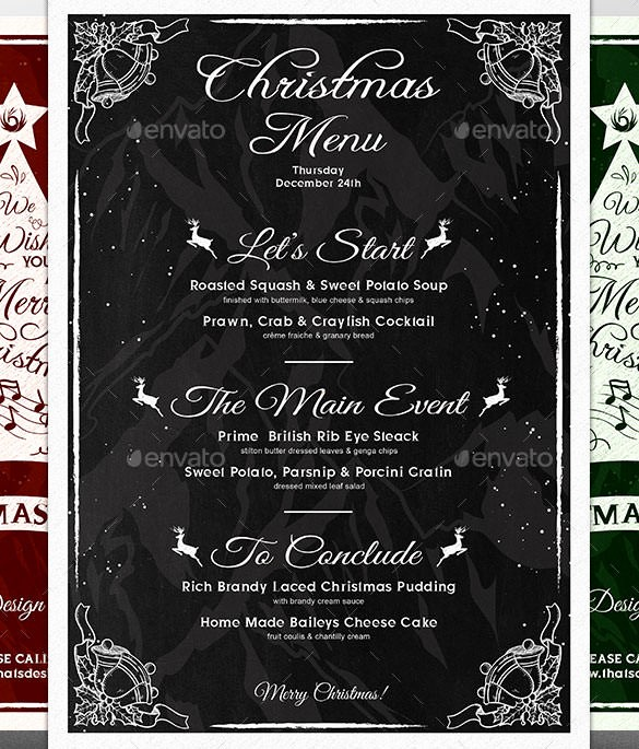 Christmas Menu Templates Free Download Best Of Christmas Menu Template – 30 Free Psd Eps Ai