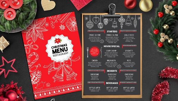 Christmas Menu Templates Free Download Fresh 35 Christmas Menu Templates Free & Premium Download