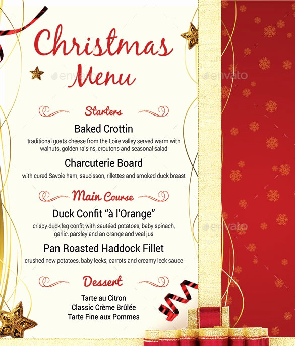 Christmas Menu Templates Free Download Fresh Christmas Menu Template – 30 Free Psd Eps Ai