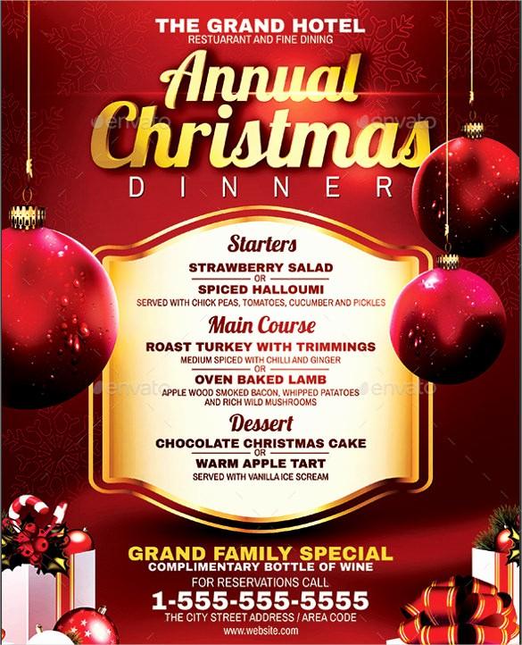 Christmas Menu Templates Free Download Fresh Dinner Menu Templates – 36 Free Word Pdf Psd Eps
