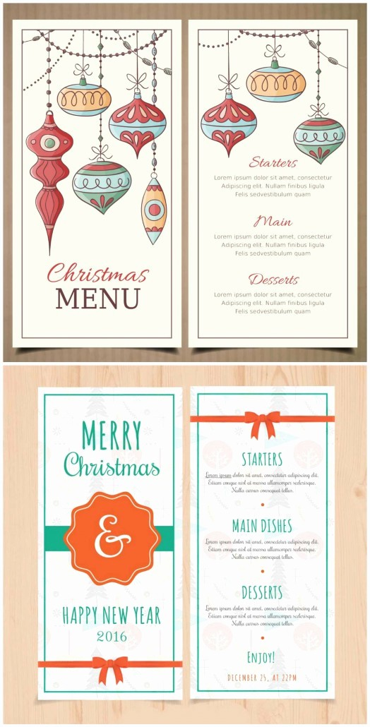 Christmas Menu Templates Free Download New Retro Christmas and New Year Menu Template