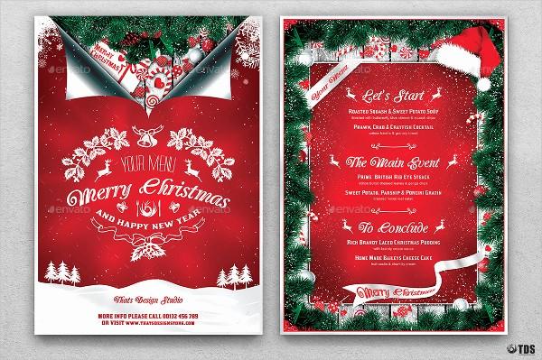 Christmas Menu Templates Free Download Unique 35 Christmas Menu Templates Free & Premium Download