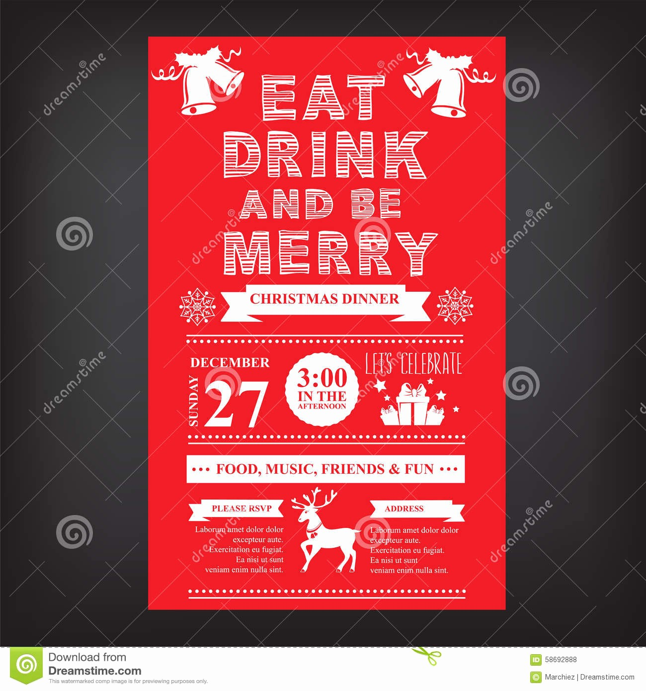 Christmas Menu Templates Free Download Unique Christmas Restaurant and Party Menu Invitation Stock