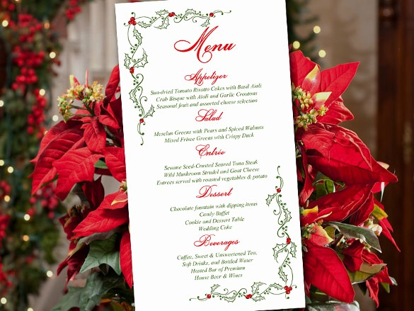 Christmas Menu Templates Free Download Unique Holiday Menu Template – 25 Free Pdf Eps Psd format