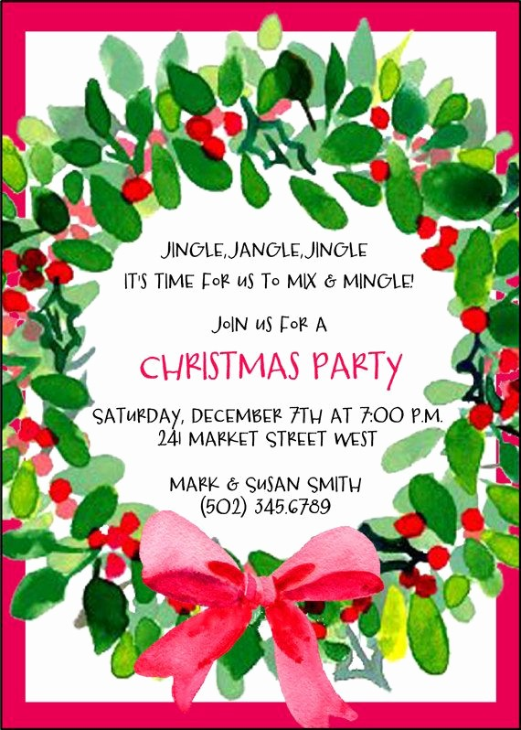 Christmas Party Invitation Free Template Awesome Best 25 Christmas Party Invitations Ideas On Pinterest