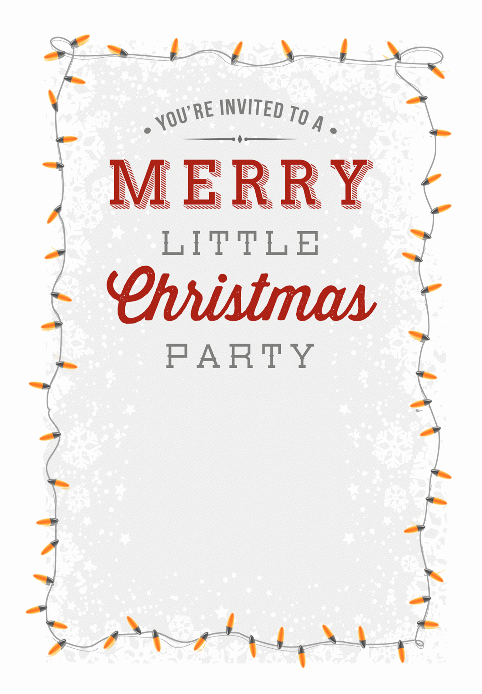 Christmas Party Invitation Free Template Best Of A Merry Little Party Free Printable Christmas Invitation