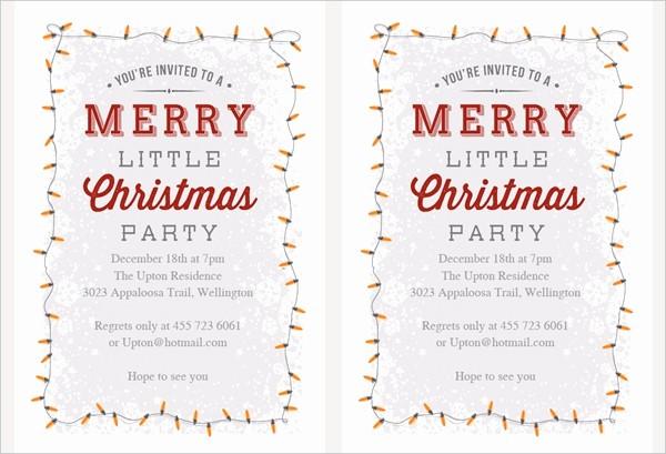 Christmas Party Invitation Free Template Elegant 32 Christmas Party Invitation Templates Psd Vector Ai