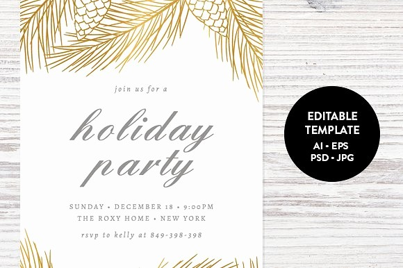 Christmas Party Invitation Free Template Elegant Holiday Party Invitation Template Invitation Templates