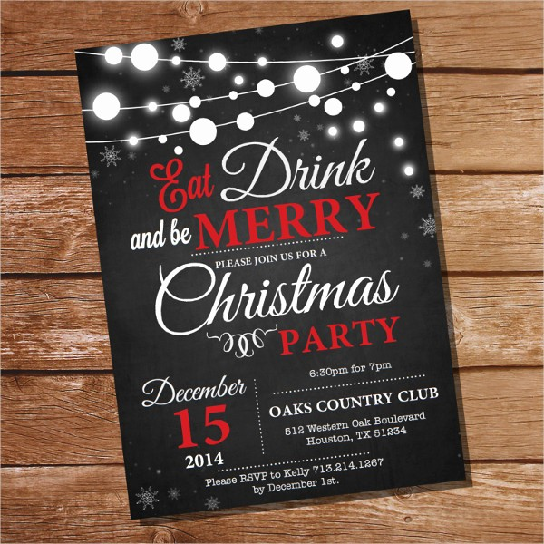 Christmas Party Invitation Free Template Fresh 20 Christmas Party Invitation Templates Christmas Party