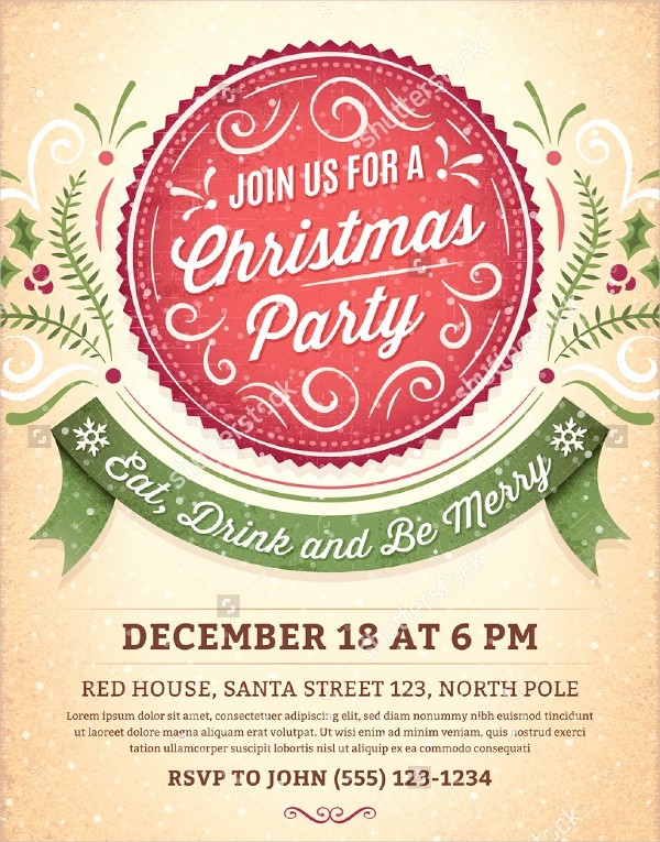 Christmas Party Invitation Free Template Fresh 32 Christmas Party Invitation Templates Psd Vector Ai