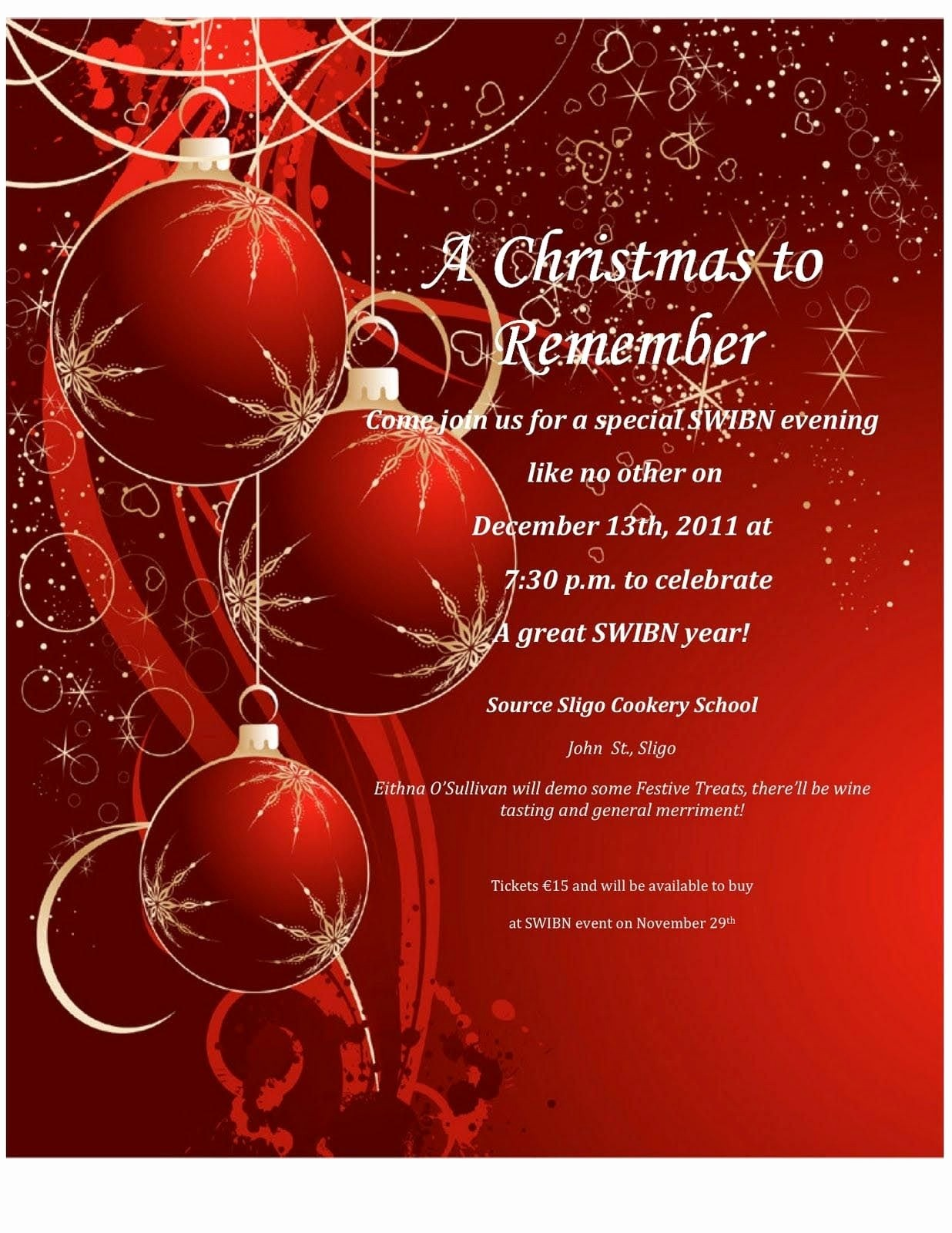 Christmas Party Invitation Free Template Fresh Holiday Party Invitation Templates Free