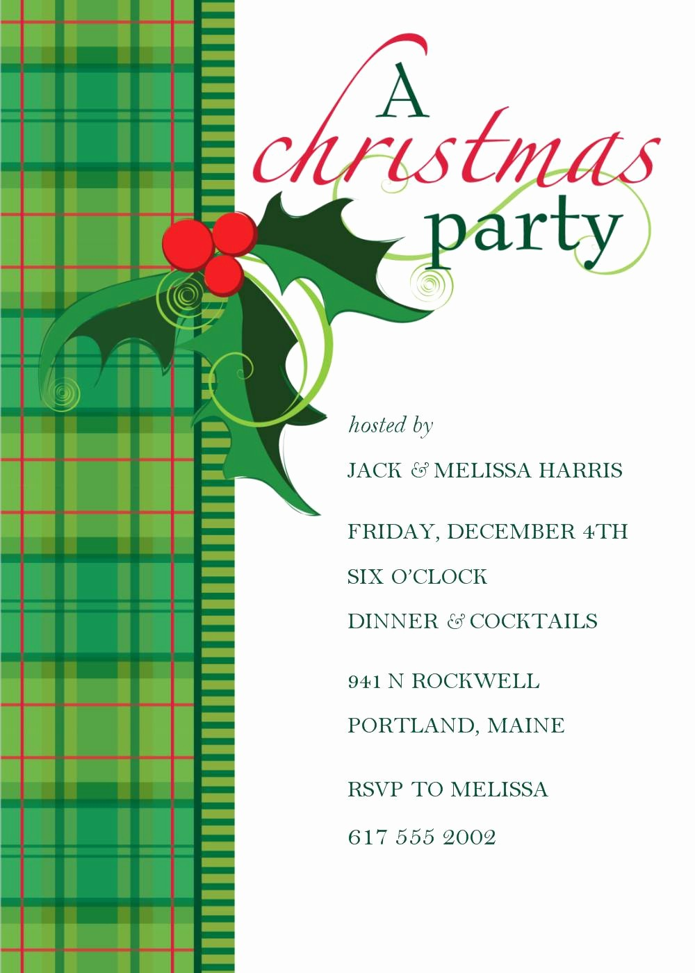 Christmas Party Invitation Free Template Inspirational Christmas Party Invitation Template