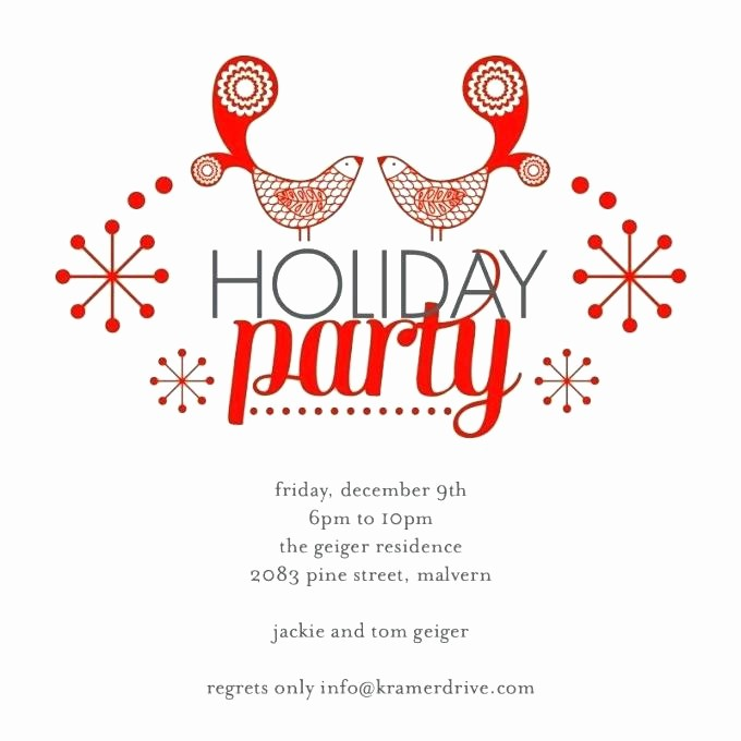 Christmas Party Invitation Free Template Inspirational Vacation Party Invitation Template Holiday Open House