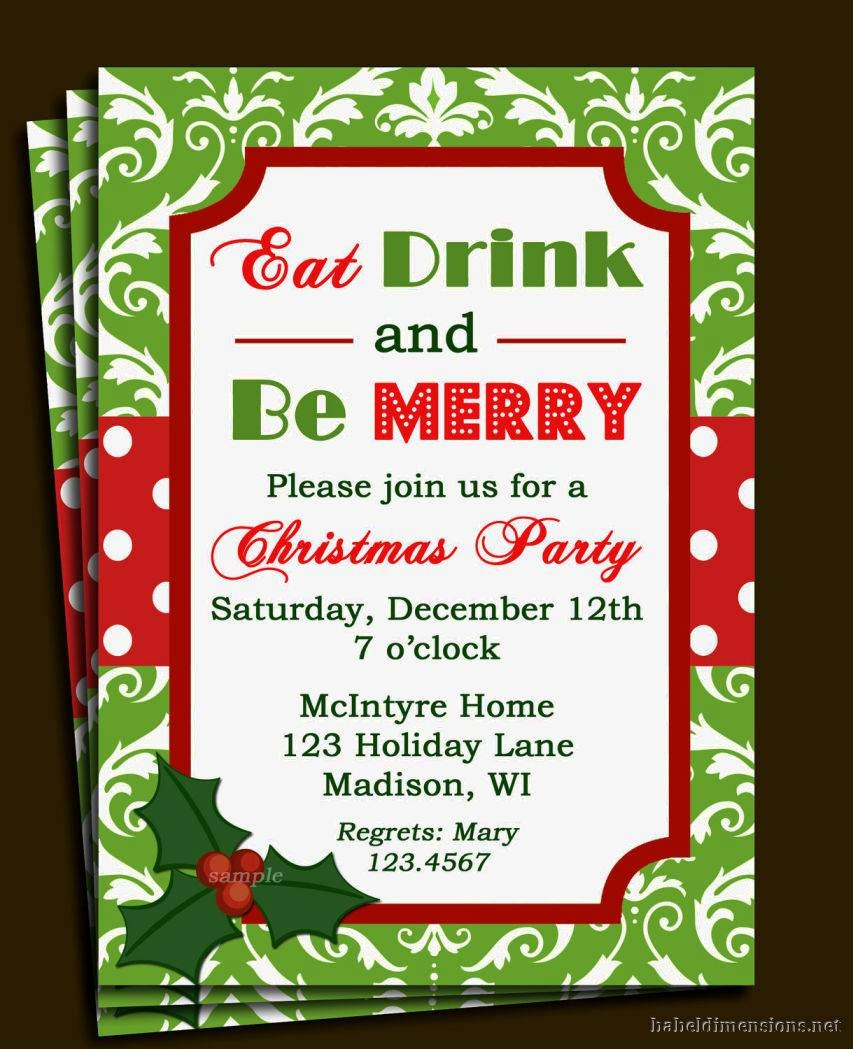 Christmas Party Invitation Free Template Lovely Christmas Party Invitation Template
