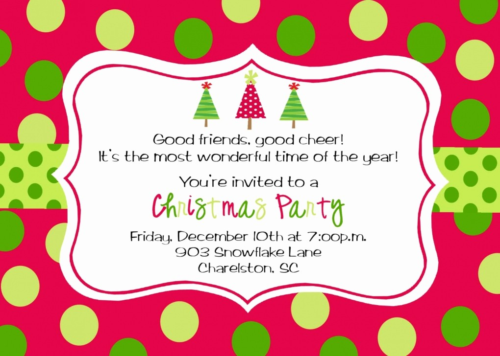 Christmas Party Invitation Free Template Lovely Kids Christmas Party Invitation Templates – Fun for