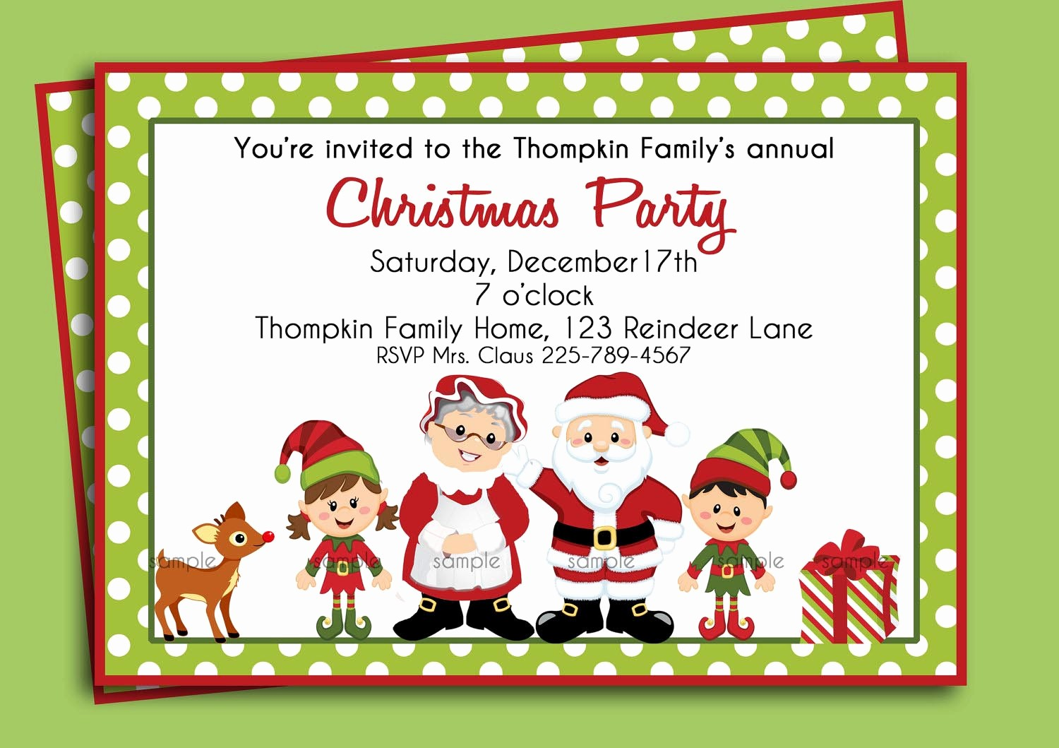 Christmas Party Invitations Free Template Beautiful Christmas Birthday Party Invitations