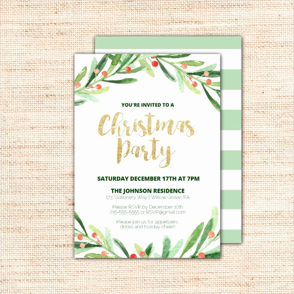 Christmas Party Invitations Free Template Best Of 20 Christmas Party Invitation Templates Christmas Party