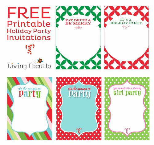 free printable christmas invitation templates