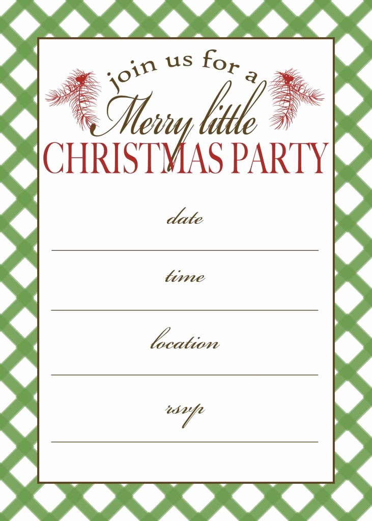 Christmas Party Invitations Free Template Best Of Free Printable Christmas Party Invitation