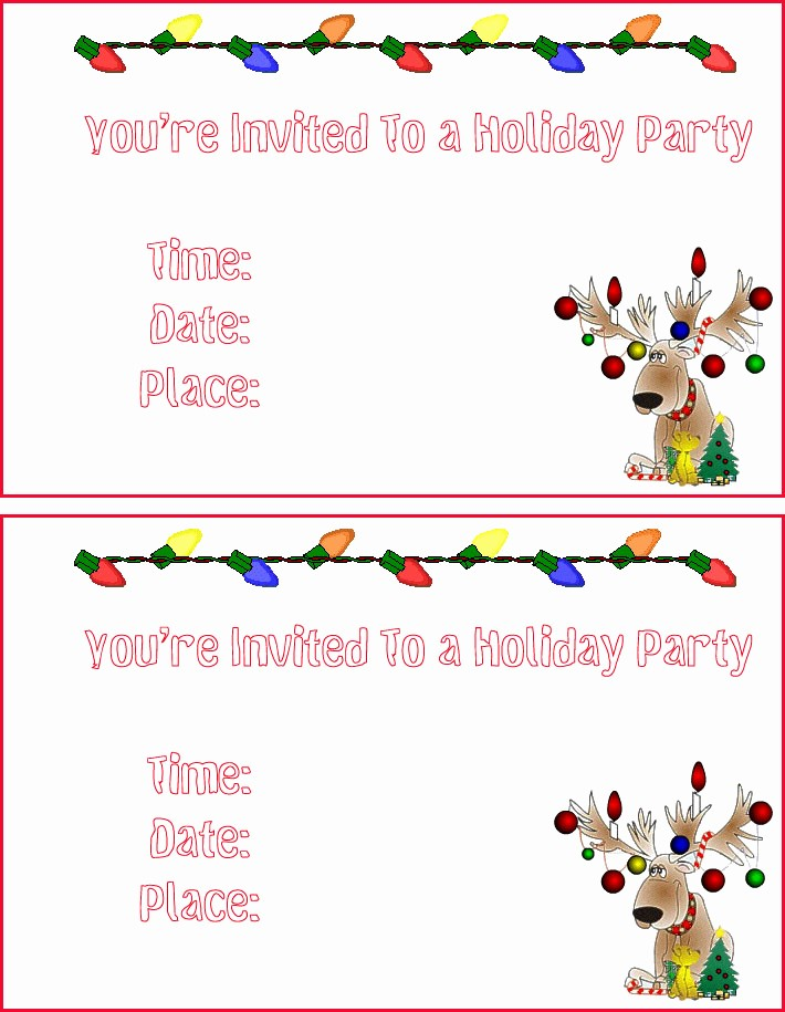 Christmas Party Invitations Free Template Elegant Free Printable Christmas Invitation Templates – Happy