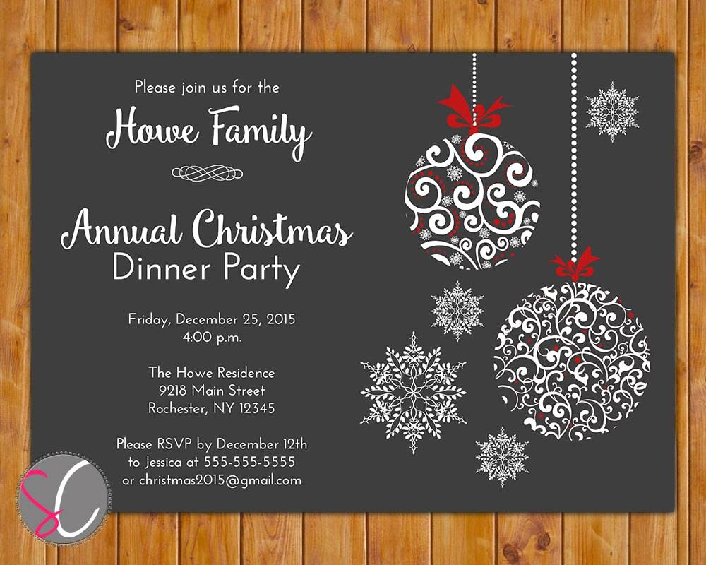 Christmas Party Invitations Free Template Elegant Holiday Party Invites